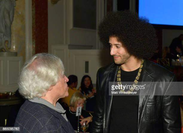 Honoree Colin Kaepernick attends ACLU SoCal Hosts Annual Bill of Rights Dinner at the Beverly Wilshire Four Seasons Hotel on December 3 2017 in...