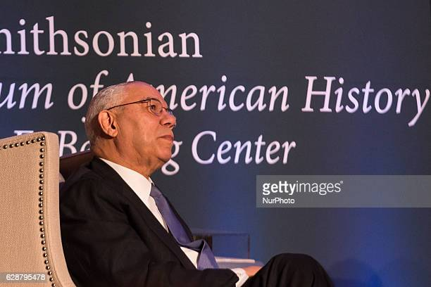 Honoree Colin L. Powell, former U.S. Secretary of State and Chairman of the Joint Chiefs of Staff, speaks during an armchair discussion, during the...