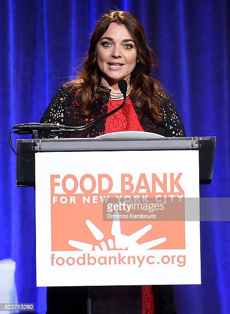 Honoree Corporate Image Director of Lavazza Francesca Lavazza speaks onstage at the Food Bank Of New York City's Can Do Awards 2016 hosted by Mario...