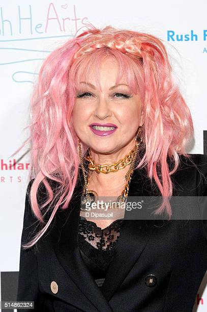 Honoree Cyndi Lauper attends the 4th Annual Russell Simmons' Rush Philanthropic Arts Foundation's Rush HeARTS Education Luncheon at The Plaza Hotel...
