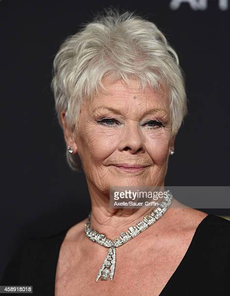 Honoree Dame Judi Dench arrives at the BAFTA Los Angeles Jaguar Britannia Awards at The Beverly Hilton Hotel on October 30 2014 in Beverly Hills...
