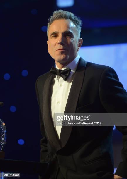 Honoree Daniel DayLewis speaks onstage during the 2012 BAFTA Los Angeles Britannia Awards Presented By BBC AMERICA at The Beverly Hilton Hotel on...