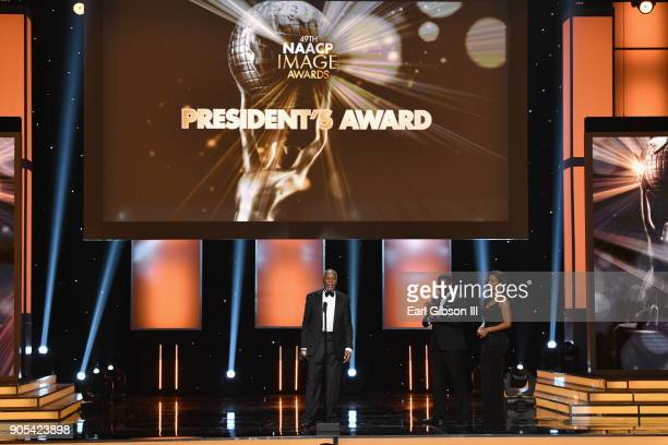 Honoree Danny Glover accepts the President's Award onstage at the 49th NAACP Image Awards on January 15 2018 in Pasadena California