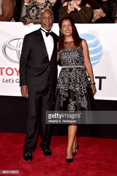 Honoree Danny Glover and Eliane Cavalleiro attend the 49th NAACP Image Awards at Pasadena Civic Auditorium on January 15 2018 in Pasadena California