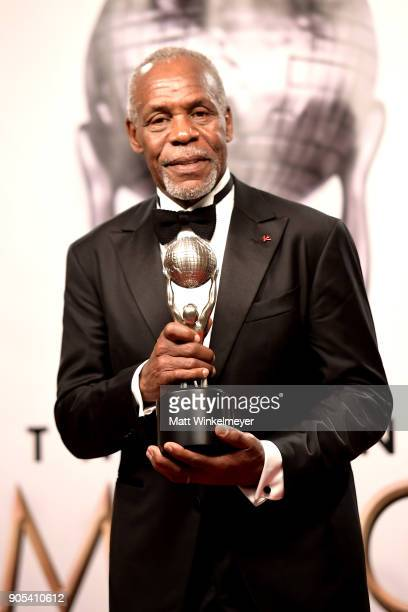 Honoree Danny Glover recipient of the President's Award poses in the press room for the 49th NAACP Image Awards at Pasadena Civic Auditorium on...