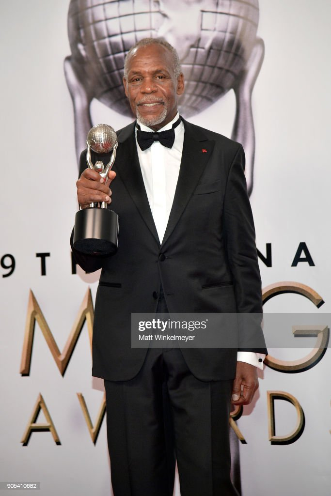 Honoree Danny Glover, recipient of the President's Award, poses in the press room for the 49th NAACP Image Awards at Pasadena Civic Auditorium on January 15, 2018 in Pasadena, California.