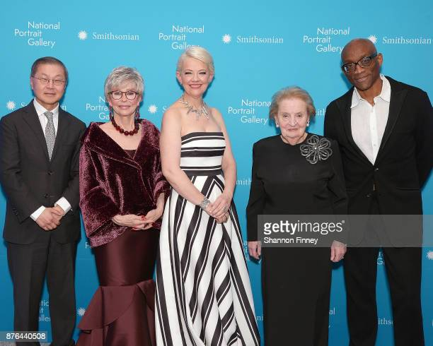 Honoree David D Ho MD honoree and actress Rita Moreno Kim Sajet Director of the National Portrait Gallery honoree and former Secretary of State Dr...