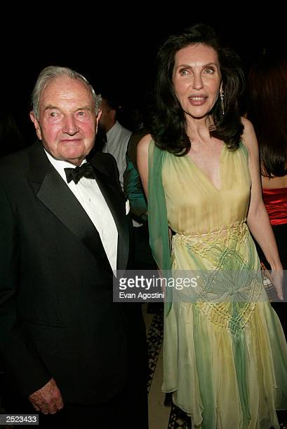 Honoree David Rockefeller with presenter Veronica Hearst at the Americans for the Arts' 7th Annual National Arts Awards at Cipriani 42nd Street in...