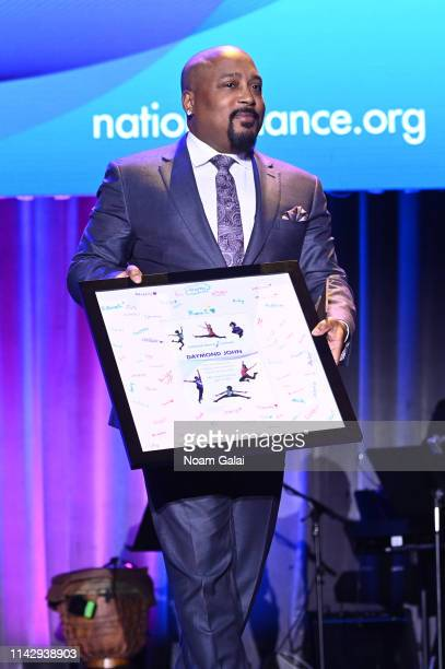 Honoree Daymond John speaks onstage during the National Dance Institute's 43rd Annual Gala at Ziegfeld Ballroom on April 15 2019 in New York City