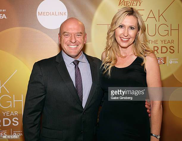 Honoree Dean Norris and Bridget Norris attend the Variety Breakthrough of the Year Awards during the 2014 International CES at The Las Vegas Hotel...