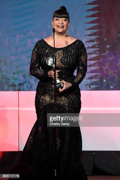 Honoree Debbie Allen accepts the Lifetime Achievement Award onstage during the 42nd Annual Gracie Awards hosted by The Alliance for Women in Media at...