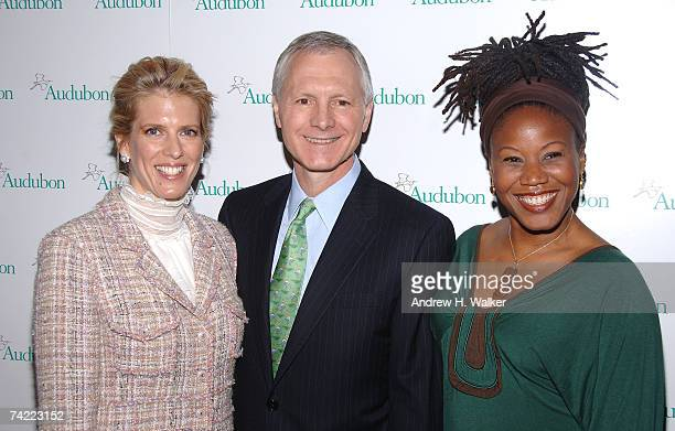 Honoree Deirdre Imus CEO and president of the National Audubon Society John Flicker and honoree Marjora Carter attend the National Audubon Society's...