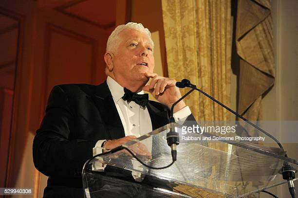 Honoree Dennis Basso speaks onstage during FIT's Annual Gala to Honor Dennis Basso John and Laura Pomerantz and QVC at the Grand Ballroom at The...