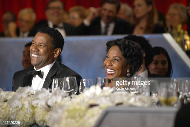Honoree Denzel Washington and Pauletta Washington attend the 47th AFI Life Achievement Award honoring Denzel Washington at Dolby Theatre on June 06...