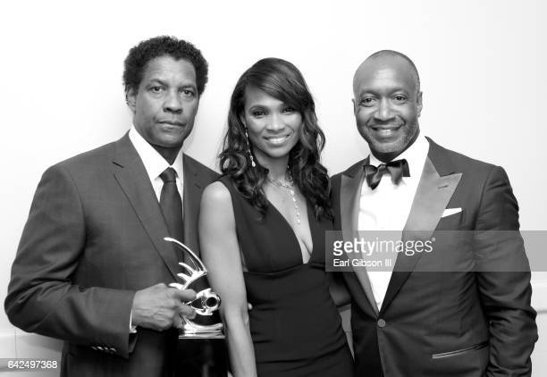 Honoree Denzel Washington Nicole Friday and founder of ABFF Jeff Friday attend BET Presents the American Black Film Festival Honors on February 17...