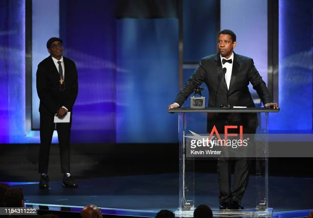 Honoree Denzel Washington speaks onstage during the 47th AFI Life Achievement Award honoring Denzel Washington at Dolby Theatre on June 06 2019 in...