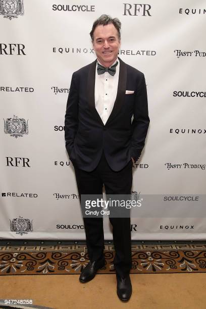Honoree Derek McLane attends as the Hasty Pudding Institute awards Derek McLane with the Order of the Golden Sphinx at The Pierre Hotel on April 16...