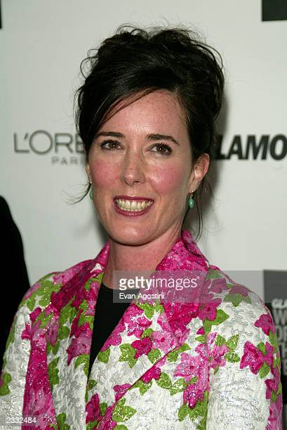 "Honoree designer Kate Spade arriving at the 2002 Glamour Magazine ""Women of the Year"" Awards at The Metropolitan Museum of Art in New York City...."