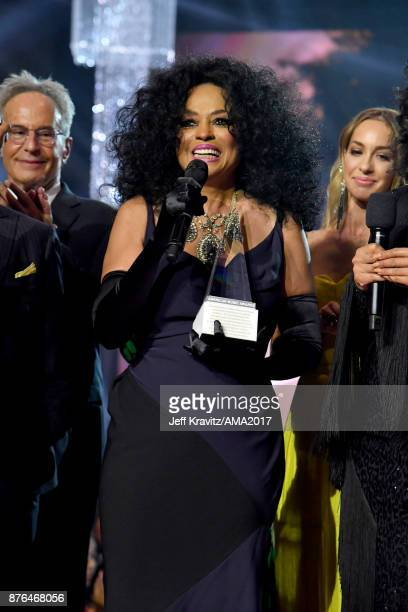 Honoree Diana Ross onstage during the 2017 American Music Awards at Microsoft Theater on November 19 2017 in Los Angeles California
