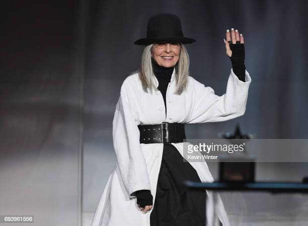Honoree Diane Keaton accepts the AFI Life Achievement Award onstage during American Film Institute's 45th Life Achievement Award Gala Tribute to...