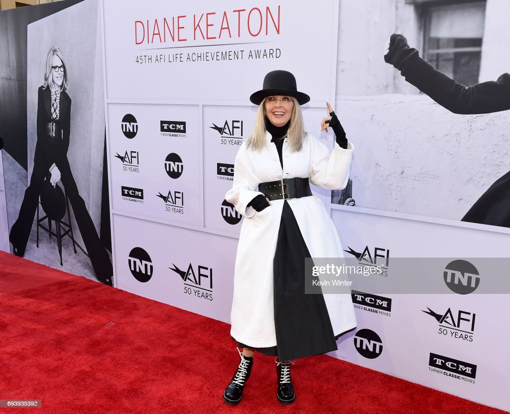 Honoree Diane Keaton arrives at American Film Institute's 45th Life Achievement Award Gala Tribute to Diane Keaton at Dolby Theatre on June 8, 2017 in Hollywood, California. 26658_007