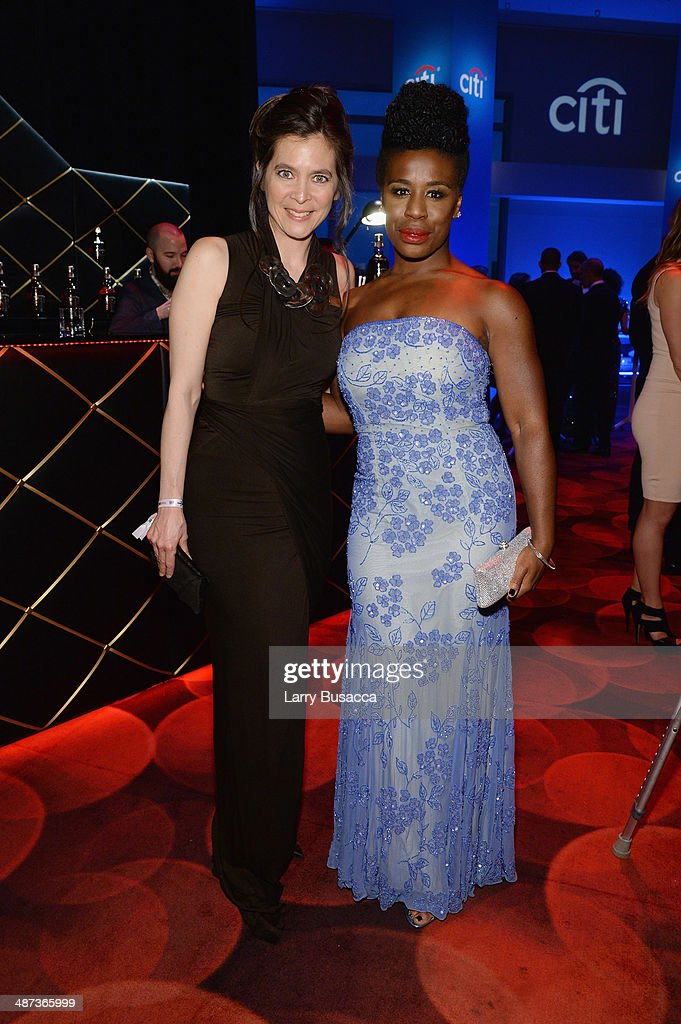 Honoree Diane Paulus (L) and actress Uzo Aduba attend the TIME 100 Gala, TIME's 100 most influential people in the world, at Jazz at Lincoln Center on April 29, 2014 in New York City.