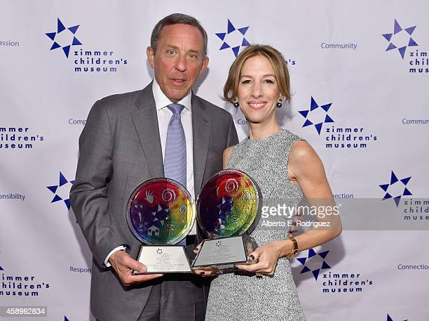 Honoree Dick Lippin and Honoree Allison Shearmur attend The Zimmer Children's Museum's 14th Annual Discovery Awards Dinner Honoring Dick Lippin and...