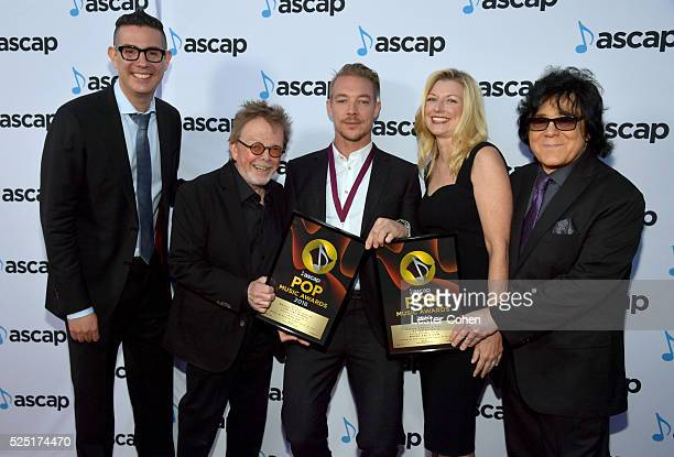 Honoree Diplo and ASCAP Vice President Pop/Rock Marc EmertHutner ASCAP President and Chairman Paul Williams ASCAP CEO Elizabeth Matthews and ASCAP...