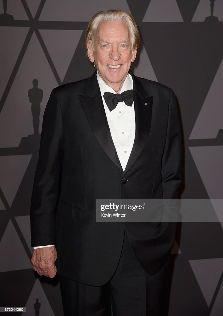 Honoree Donald Sutherland attends the Academy of Motion Picture Arts and Sciences' 9th Annual Governors Awards at The Ray Dolby Ballroom at Hollywood & Highland Center on November 11, 2017 in Hollywood, California.