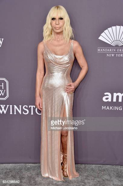 Honoree Donatella Versace attends the 19th Annual amfAR New York Gala at Cipriani Wall Street on February 8 2017 in New York City