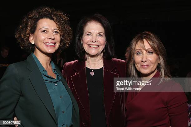 Honoree Donna Langley CEO of The Sherry Lansing Foundation Sherry Lansing and honoree Stacey Snider attend the 24th annual Women in Entertainment...