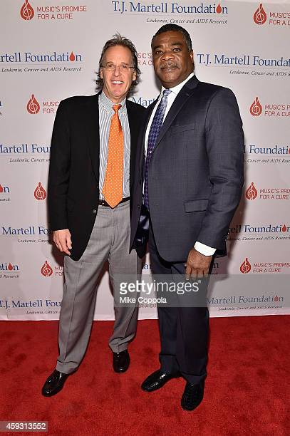 Honoree Doug Shafer of Shafer Vineyards and former professional baseball player Eddie Murray attend the TJ Martell Foundation's 11th annual New York...