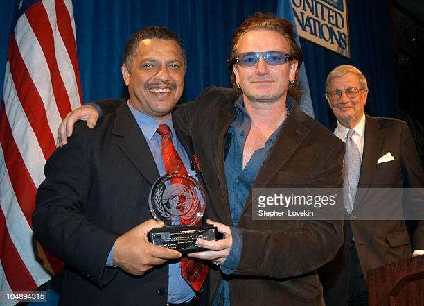 Honoree Dr Alex Godwin Coutinho Executive Director of The AIDS Support Orginization and Bono
