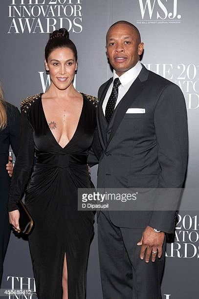 Honoree Dr Dre and wife Nicole Young attend WSJ Magazine's 'Innovator Of The Year' Awards at the Museum of Modern Art on November 5 2014 in New York...