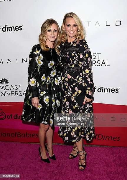 Honoree Dr. Michele Hakakha and actress Molly Sims attend the March Of Dimes Celebration Of Babies Luncheon honoring Jessica Alba at the Beverly...