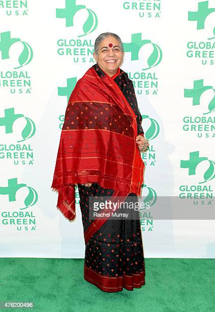 Honoree Dr Vandana Shiva attends the Global Green USA 19th Annual Millennium Awards on June 6 2015 in Century City California