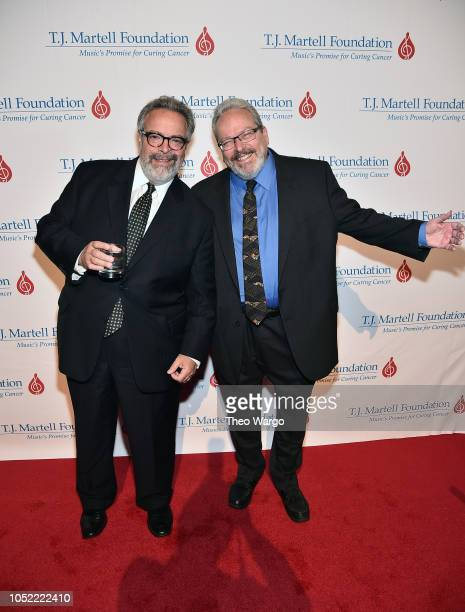 Honoree Drew Nieporent and brother Tracy Nieporent attend The TJ Martell Foundation 43rd New York Honors Gala at Cipriani 42nd Street on October 15...