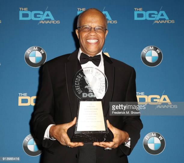 Honoree Dwight Williams recipient of the Frank Capra Achievement Award poses in the press room during the 70th Annual Directors Guild Of America...