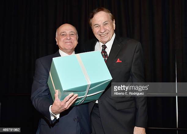 Honoree Ed Nowak and composer Richard Sherman attend The Los Angeles Children's Chorus' Annual Gala Bel Canto honoring Ed Nowak and 'Frozen'...