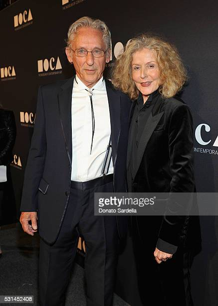 Honoree Ed Ruscha and Danna Ruscha attend the MOCA Gala 2016 at The Geffen Contemporary at MOCA on May 14, 2016 in Los Angeles, California.