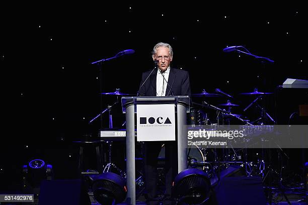 Honoree Ed Ruscha speaks onstage during the MOCA Gala 2016 at The Geffen Contemporary at MOCA on May 14 2016 in Los Angeles California