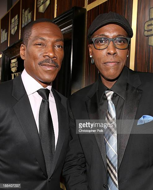 Honoree Eddie Murphy and Arsenio Hall arrive at Spike TV's Eddie Murphy One Night Only at the Saban Theatre on November 3 2012 in Beverly Hills...