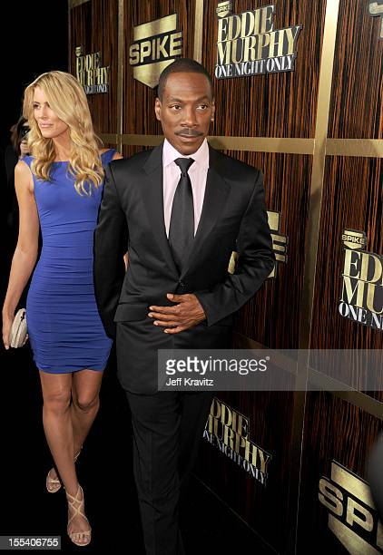 Honoree Eddie Murphy and model Paige Butcher arrive at Spike TV's Eddie Murphy One Night Only at the Saban Theatre on November 3 2012 in Beverly...
