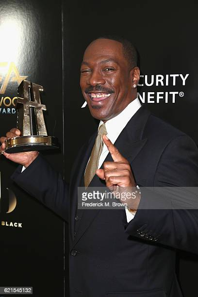 Honoree Eddie Murphy Career Achievement Award recipient poses in the press room at the 20th Annual Hollywood Film Awards at The Beverly Hilton Hotel...