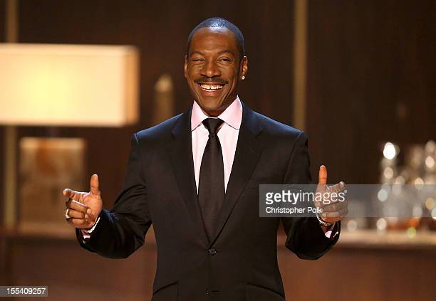 Honoree Eddie Murphy speaks onstage at Spike TV's Eddie Murphy One Night Only at the Saban Theatre on November 3 2012 in Beverly Hills California