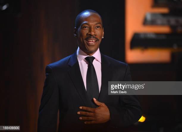 "Honoree Eddie Murphy speaks onstage at Spike TV's ""Eddie Murphy: One Night Only"" at the Saban Theatre on November 3, 2012 in Beverly Hills,..."