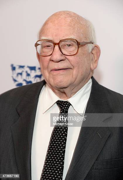 Honoree Edward Asner attends The Humane Society Of The United States' Los Angeles Benefit Gala at the Beverly Wilshire Hotel on May 16 2015 in...