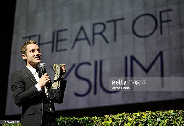 Honoree Elijah Wood accepts The Spirit of Elysium Award onstage during Audi presents The Art of Elysium's 5th annual HEAVEN at Union Station on...