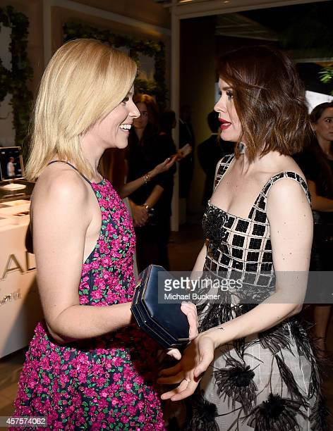 Honoree Elizabeth Banks and actress Sarah Paulson attend ELLE's 21st Annual Women in Hollywood Celebration at the Four Seasons Hotel on October 20...