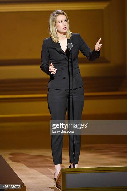 Honoree Elizabeth Holmes speaks onstage at the 2015 Glamour Women of the Year Awards on November 9 2015 in New York City